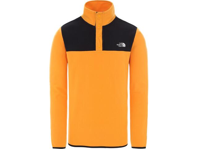 The North Face Tka Glacier Suéter Cuello Botones Hombre, flame orange/tnf black